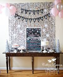 Winter Decorations For Parties - best 25 first birthday party ideas winter ideas on pinterest