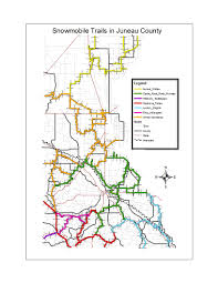 Map Of Wisconsin Dells by Snowmobile Juneau County