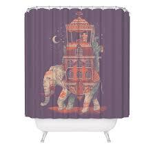 elephant traveler shower curtain india asia africa animal shower