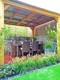 Roofing For Pergola by Brooklyn Townhouse A Contemporary Backyard With A Tin Roof Pergola