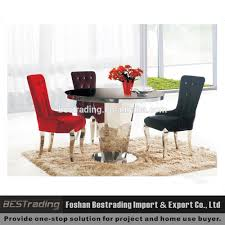 round stainless steel dining table glass top stainless steel frame