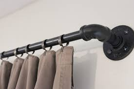 industrial curtain rods fabulous diy curtain rod pipe industrial