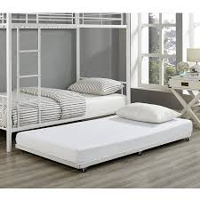 white twin roll out trundle bed frame walmart com