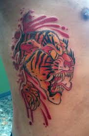 ripping out traditional tattoos tiger rip by bjorkmario on