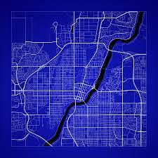Saskatoon Canada Map by Saskatoon Street Map Saskatoon Canada Road Map Art On Color