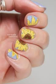 best 25 sunflower nail art ideas on pinterest sunflower nails