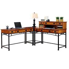 Modern L Shape Desk Shop Home Styles Modern Craftsman L Shaped Desk At Lowes