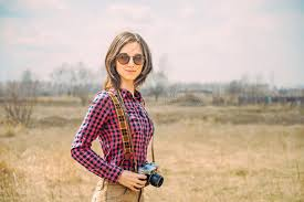 hipster girl hipster girl with vintage photo camera stock photo image of person