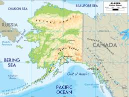 Arctic Circle Map Alaska Physical Map Usa