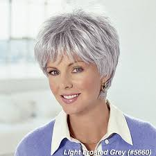 frosted gray hair pictures cancer hair hair loss short victim wig stores selling wigs
