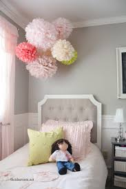 White Curtains With Pom Poms Decorating Tissue Paper Pom Poms Tutorial The Idea Room