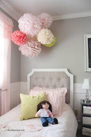 Curtains With Pom Poms Decor Tissue Paper Pom Poms Tutorial The Idea Room