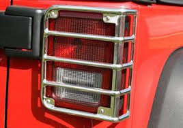 Jeep Jk Tail Light Covers Rugged Ridge Jeep Wrangler Polished Stainless Steel Rear Tail