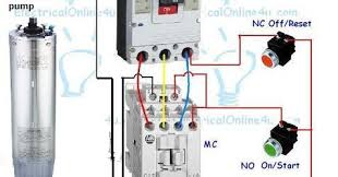 single phase submersible pump panel board wiring diagram the