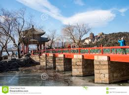 asia china beijing the summer palace winter architecture and