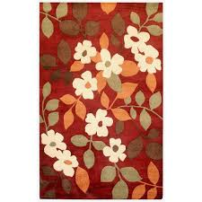 Red Area Rug by Rizzy Home Pandora Red Floral 8 Ft X 10 Ft Area Rug Pr0830 8 U0027 X