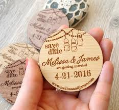 rustic save the date magnets wooden save the date magnets jar design wood save the date