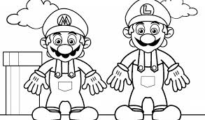 mario luigi coloring pages free coloring pages kids