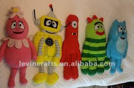 yo gabba gabba plush toys pillows huge nick jr plex foofa muno
