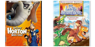horton hears a who or land before time dvd 5 each my frugal