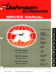 1978 johnson 175 200 235 hp outboard service manual pdf ignition