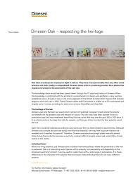 dinesen oak u2013 respecting the heritage dinesen pdf catalogues