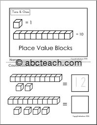 place value kindergarten worksheets u0026 place value of ones and tens