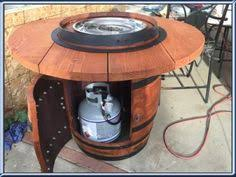 Diy Propane Firepit Diy Pit Table From A Wine Barrel Pinteres