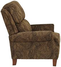 Recliners That Do Not Look Like Recliners Amazon Com Beaumont Warm Brown Paisley Push Thru Arm 3 Way