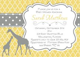 mod baby shower mod giraffe baby shower invitation yellow gray trefoil