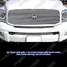 dodge ram white grill amazon com 06 08 dodge ram billet grille grill combo