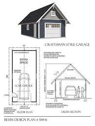 craftsman style garage plans 1 car craftsman style garage plan by behm 544 6 16 x34 behm