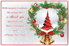 Happy New Year Business Card Thank You Business Greeting Card For New Year Stock Photo Image