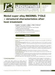 bureau des hypoth鑷ues de nickel alloy inconel 713lc structural characteristics