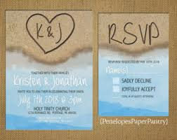 Beach Wedding Invitations View Beach Wedding By Penelopespaperpantry On Etsy