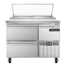 continental pizza prep table continental refrigerator cpa43 d pizza prep table 43 wide one