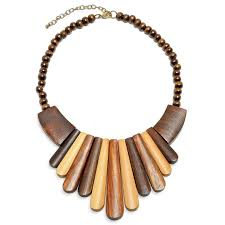 wood jewelry necklace images Artisan wood bib collar necklace 15in jpg