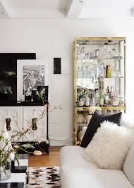 how to decorate glass cabinets in living room my apartment black white gold white gold and gold
