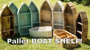 how to make a boat shelf from reclaimed pallet wood youtube