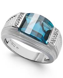 silver rings london images Macy 39 s men 39 s london blue topaz 6 1 2 ct tw and diamond accent tif