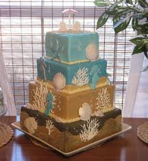 beach themed square wedding cake gallery for gt beach wedding