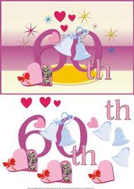 60th wedding anniversary greetings 60th wedding anniversary card front with decoupage