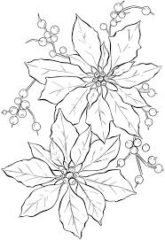 poinsettia line art christmas the graphics fairy