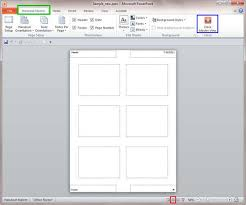 handout master view in powerpoint 2010 for windows
