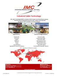 imct cable control catalog transmission mechanics machines