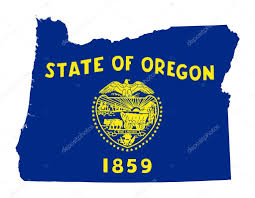 State Map Of Oregon by State Of Oregon Flag Map U2014 Stock Photo Speedfighter17 40983517