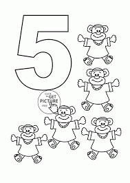 free coloring pages number 2 numbers coloring pages 5 for kids freecolorngpages co ribsvigyapan