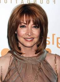 medium length hairstyles for women over 40 with bangs the hairstyles of medium length hairstyles for women over 40