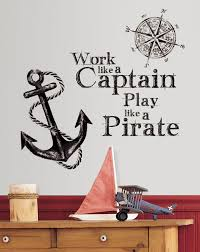 roommates rmk2320gm work like a captain quote peel and stick wall roommates rmk2320gm work like a captain quote peel and stick wall decals decorative wall appliques amazon com