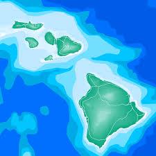 Map Hawaii Hawaii Map Print Hawaiian Islands Usa Ocean U2013 Maps As Art